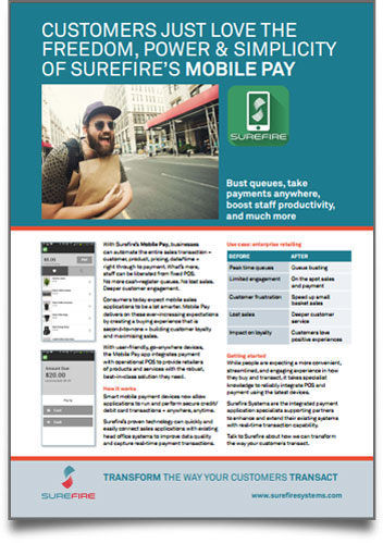 Surefire Mobile Pay - download flyer